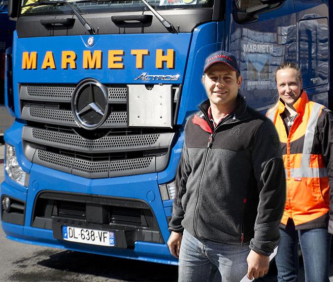 Transports MARMETH accompagne votre développement