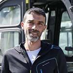 Ahmed Leharani, cariste au service LDD, site de Maillat