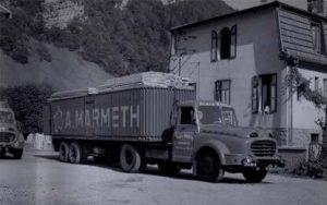 En 1948, Transports Marmeth quitte l'avenue de la gare et s'installe au 20 route de Genève