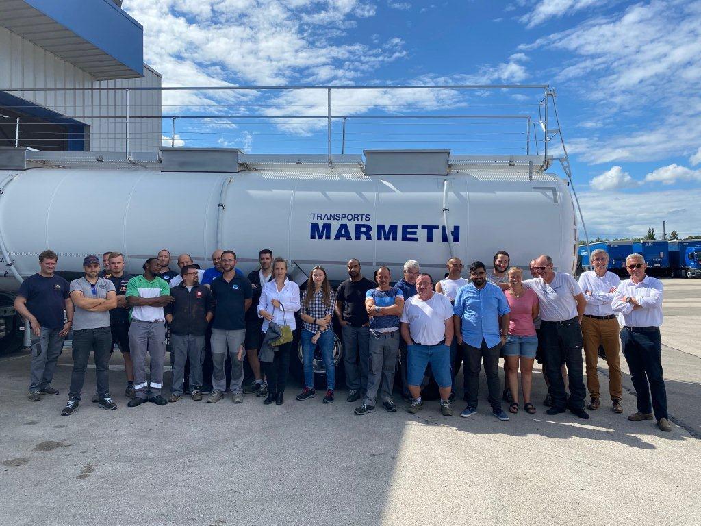 Transports Marmeth reçoit 1ere citerne au monde à être construite en fibre de carbone.