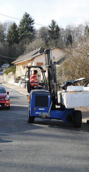 Livraison directe à domicile et chariot embarqué