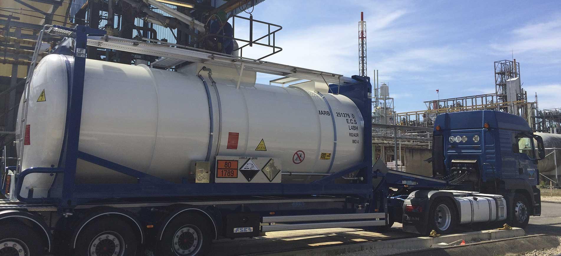 Transport de produits chimiques